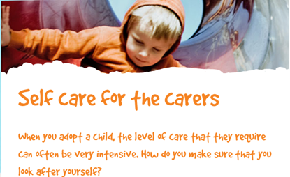 Self care for the carers